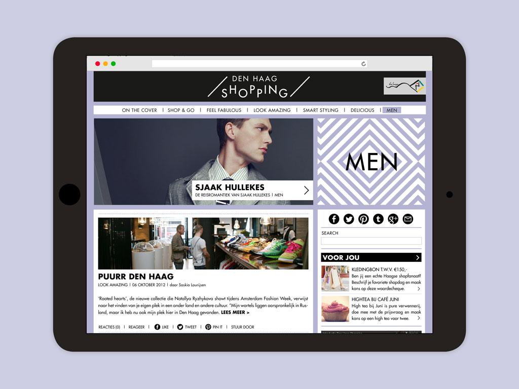 Den Haag Shopping website men