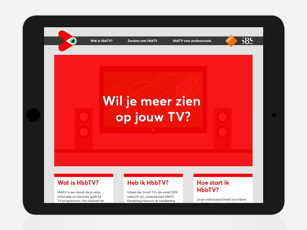 Druk op rood HbbTV
