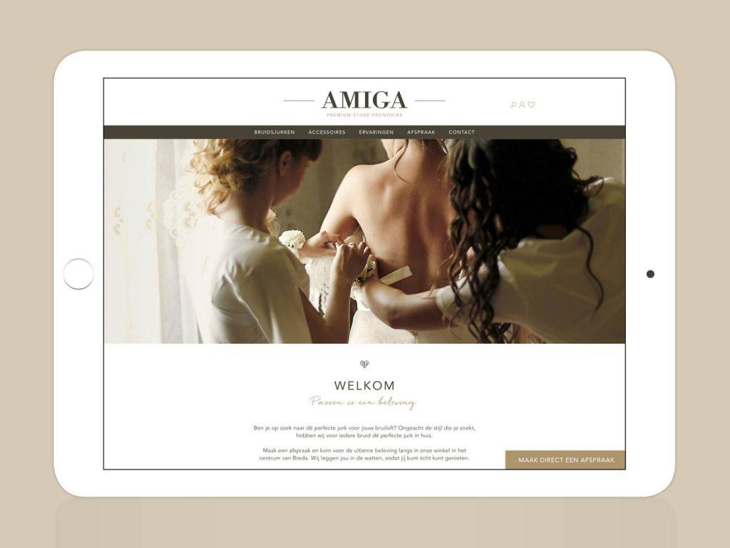 Amiga Bruidsmodewinkel website home