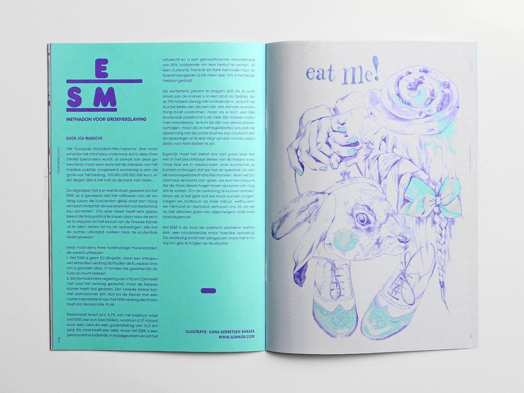 Magazine OverDWARS illustratie DWARS