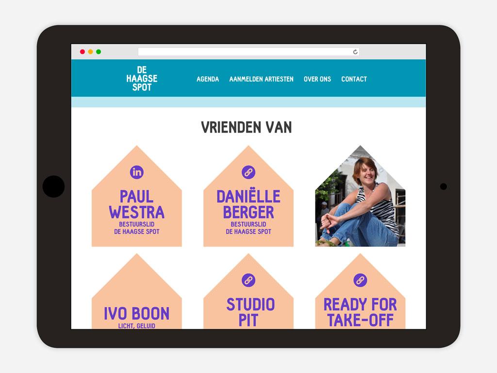 De Haagse Spot website